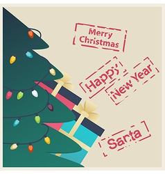 New Year or Christmas greeting card vector image