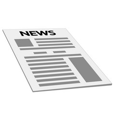 Newspaper news cover page icon mockup template vector