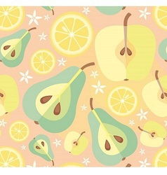 Pear Apple and Lemon vector