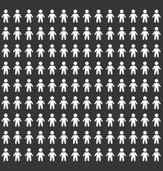 people pattern seamless background on black vector image