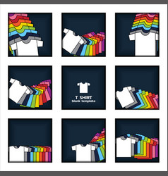 Plain t-shirt display on navy blue background vector