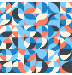 Seamless pattern simple geometric shapes in vector