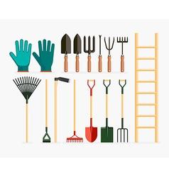 Set of garden tools and gardening items vector