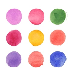 set watercolor circles vector image