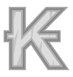 Sign of money lao kip icon black monochrome style vector
