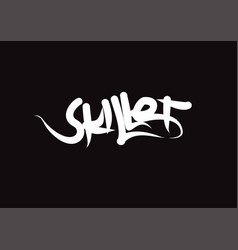 Skillet lettering text modern calligraphy style vector