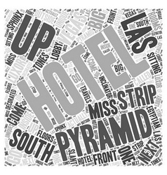South Strip of Las Vegas Word Cloud Concept vector
