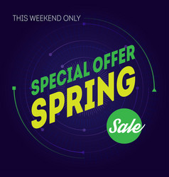 spring sale banner template special offer this vector image
