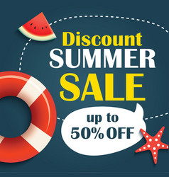 summer sale background banner template voucher vector image