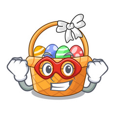 super hero easter basket isolated in the character vector image