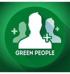 Teamwork association green people sign icon vector