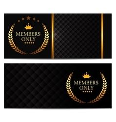 Vip members card set vector