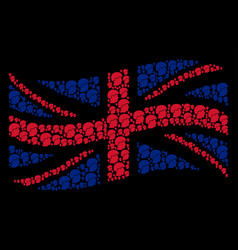 waving great britain flag collage of soldier vector image