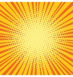 Yellow orange rays comic pop art retro background vector