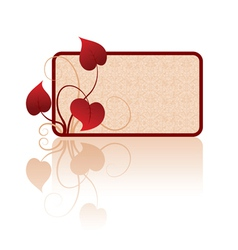 Card with leaves vector image vector image