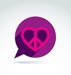 Chat on peace and love theme Antiwar and love vector image vector image