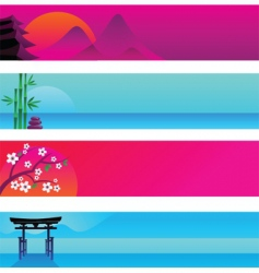 oriental banner templates vector image vector image