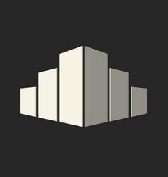 Real estate conceptual logo icon vector