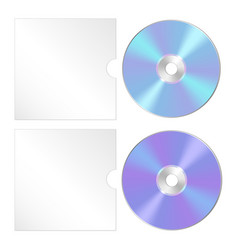 cd dvd isolated icon compact disc realistic set vector image vector image