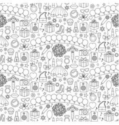 girl party seamless pattern vector image