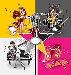 Music Star Idols vector image vector image
