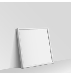 Realistic White square shape frame for paintings vector image