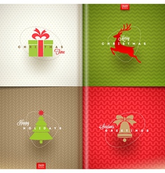 Set of Christmas greeting design vector image