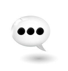 Talk bubble vector image
