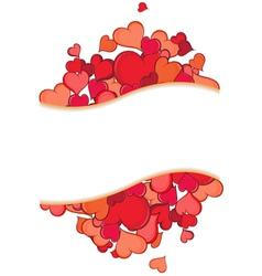 Valentine hearts holiday frame vector