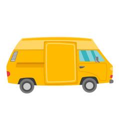 yellow van cartoon vector image