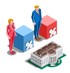 Election Infographic Presidential Pools Isometric vector image