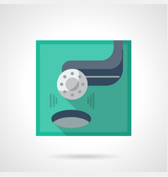 golf tournament flat color icon vector image vector image