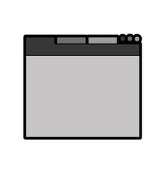 grey web tab vector image