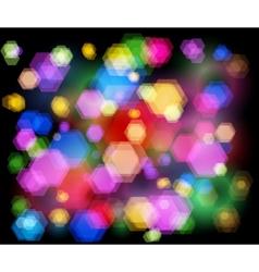 unfocused night light - highway sparkles vector image vector image