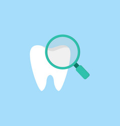 checking teeth flat icon vector image vector image
