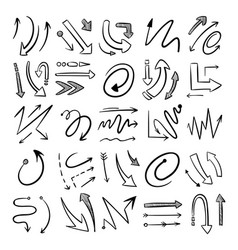 different curved lines with arrows vector image
