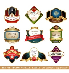 labels and frames vector image vector image