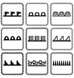Set of frames in Indian style vector image vector image
