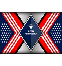 usa backgrounds template vector image vector image