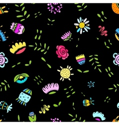 Abstract floral pattern for your design vector image