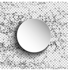 Abstract mesh spheres Futuristic atom technology vector