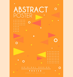 Abstract poster bright placard template with vector