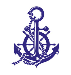 Anchor and ships wheel symbol vector