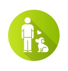 animals welfare and help flat design long shadow vector image