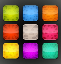background for app icons-set 7 vector image