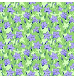 Beautiful wild bluebell flowers seamless pattern 3 vector image