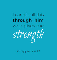 Biblical phrase from philippians i can do all vector