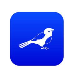 Bird icon digital blue vector