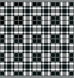 black and white tartan seamless pattern background vector image