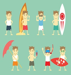 Boys In Summer vector image